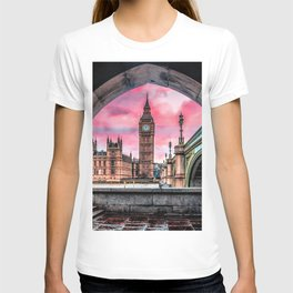 London Big Ben Pink T-shirt