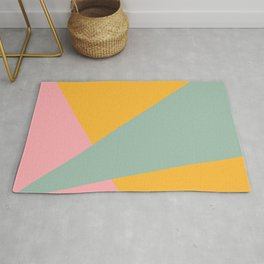Beam Out - Mustard Yellow, Robin's Egg, and Pale Pink Rug
