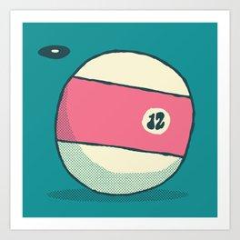 TV 12 BALL Art Print