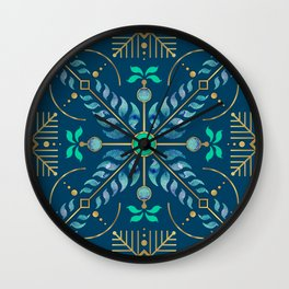 Floral Planets circulating in Morocco - Pattern Wall Clock