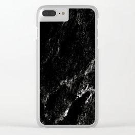 Black Marble #6 #decor #art #society6 Clear iPhone Case