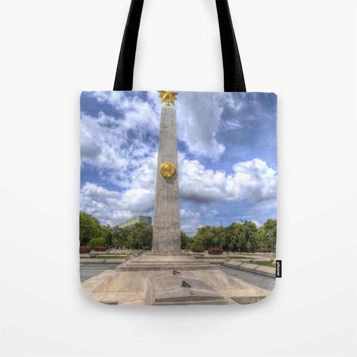 Russian World War 2 Memorial Budapest Tote Bag