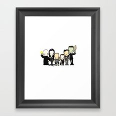 They're creepy and they're kooky Framed Art Print