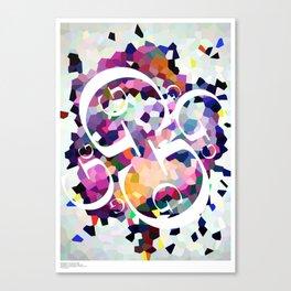 Perception Experiment 001 Garamond Canvas Print