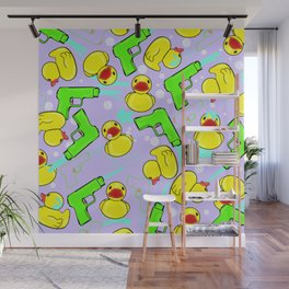 Rubber Duckies and Waterguns Wall Mural