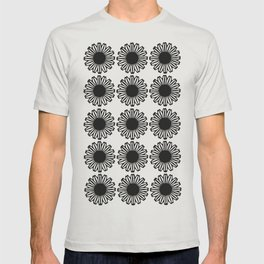 vintage flowers black T-shirt