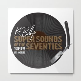 K - Billy´s Super Sounds of the Seventies Metal Print