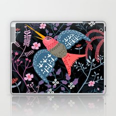Flowered hummingbird Laptop & iPad Skin