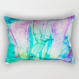 alcohol inks spring floral Rectangular Pillow