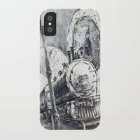 train iPhone & iPod Cases featuring Train by Grim Dream Art