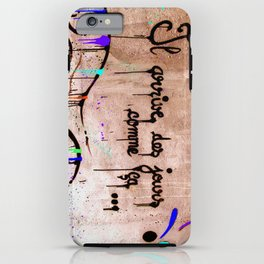 French art on the wall II iPhone Case