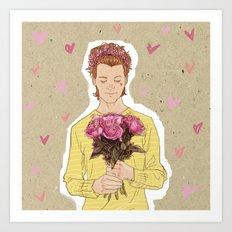 Flower Power  - Hot Pink Art Print