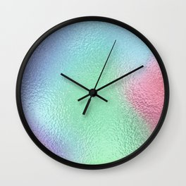 Simply Metallic in Holographic Rainbow Wall Clock