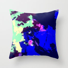Ichithomie - Abstract Colorful Batik Camouflage Tie-Dye Style Pattern Throw Pillow