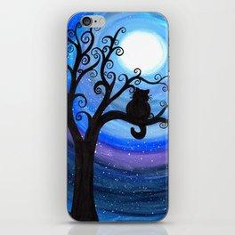 Midnight Cat iPhone Skin