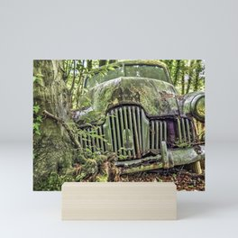 Abandoned Automobile in the Scituate Reservoir, Rhode Island Mini Art Print