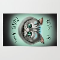 cheshire cat Area & Throw Rugs featuring Cheshire Cat by BeckiBoos