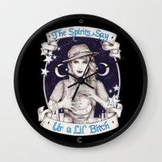 Mystic Miss Maggie Esmerelda (b&w) Wall Clock