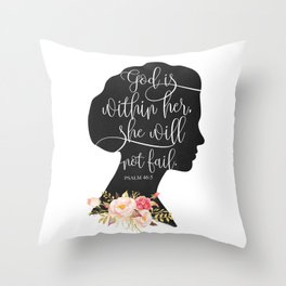 God with Within Her Throw Pillow