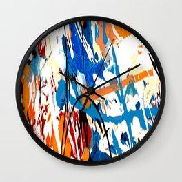 Blue orange #1 Wall Clock