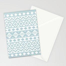 Aztec Essence Ptn IIIb Duck Egg Blue & White Stationery Cards