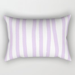 Lavender Stripes Rectangular Pillow