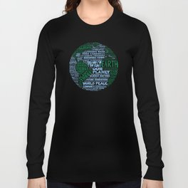 Protect Earth Word Bubble Long Sleeve T-shirt