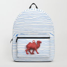 Genetically challenged camel trying to cross the blue mirage Backpack