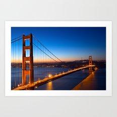 Golden Gate Dawn Bridge Art Print