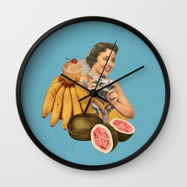 Tropical Vacation Wall Clock