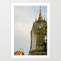 thailand Art Prints featuring Thailand by Michelle Frances Deacon