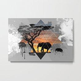 An Elephants Look Inside Metal Print