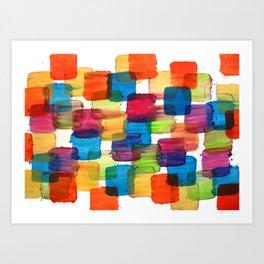 Colorful Bubblewrap POSTER Watercolor ART ABSTRACT Print by Robert R Splashy ART Art Print