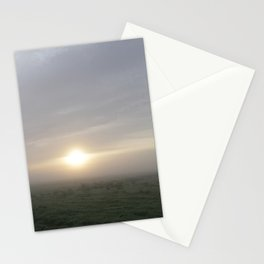 Dutch foggy sunrise Stationery Cards