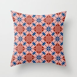 Folk Pattern Throw Pillow