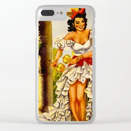 Cuba Holiday Isle of the Tropics Clear iPhone Case