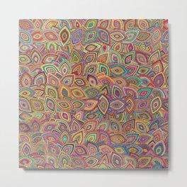 Colorful Leaves Pattern #07 Metal Print