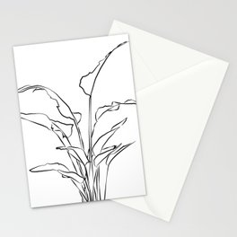 ''Plants Collection'' - Minimal One Line Plant Print Stationery Cards