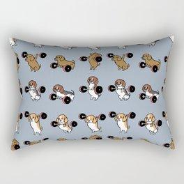 Olympic Lifting Beagles Rectangular Pillow