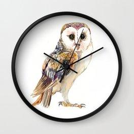 Barn Owl home decor, owl lover gift Wall Clock