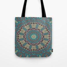 Jade & Gold Mandala Tote Bag