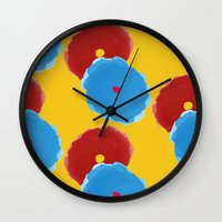 lindsay lohan Wall Clocks featuring Lindsay by Anh-Valérie