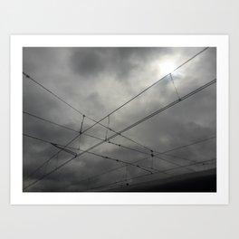 Cruces en el cielo Art Print