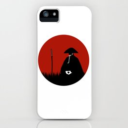 Meditating Samurai Warrior iPhone Case