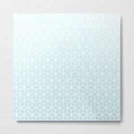 Cubes pattern blue Metal Print