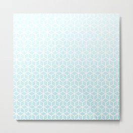 Cubes pattern blue Metal Print