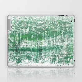 Sea green blurred watercolor pattern Laptop & iPad Skin