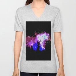 starry night  smurf Unisex V-Neck