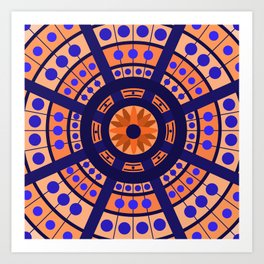 Complimentary & Symmetry - Blue and Orange Art Print