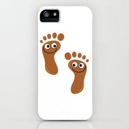 Brown Happy Feet iPhone Case
